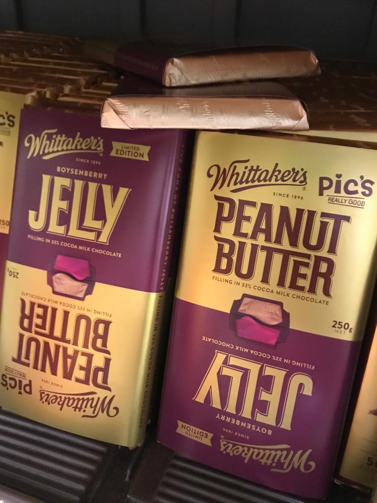 Whittakers PBJ chocolate bar